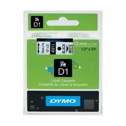 DYMO D1 12mm teippi musta valkoinen 45013
