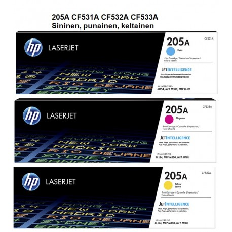 HP 205A värit